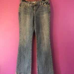 Mossimo supply jeans size 7 Boot cut low rise 32""